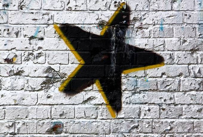 star graffiti grunge
