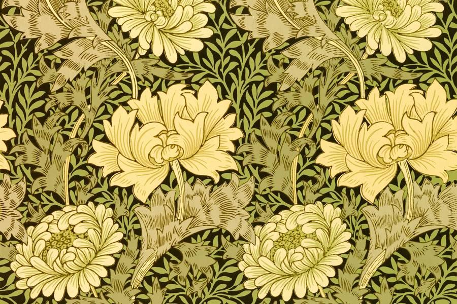 Chrysanthemum Pattern by William Morris free texture