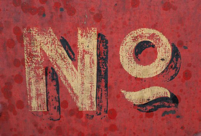 free Retro No Inscription on Grunge Red Wall texture