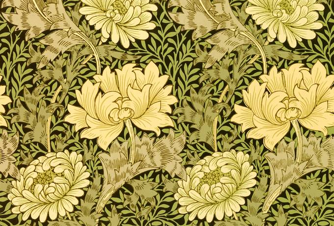 free Chrysanthemum Pattern by William Morris texture