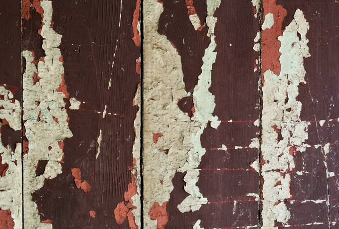 wood paint peeling
