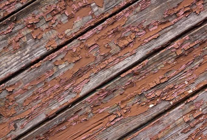 wood peeling plank