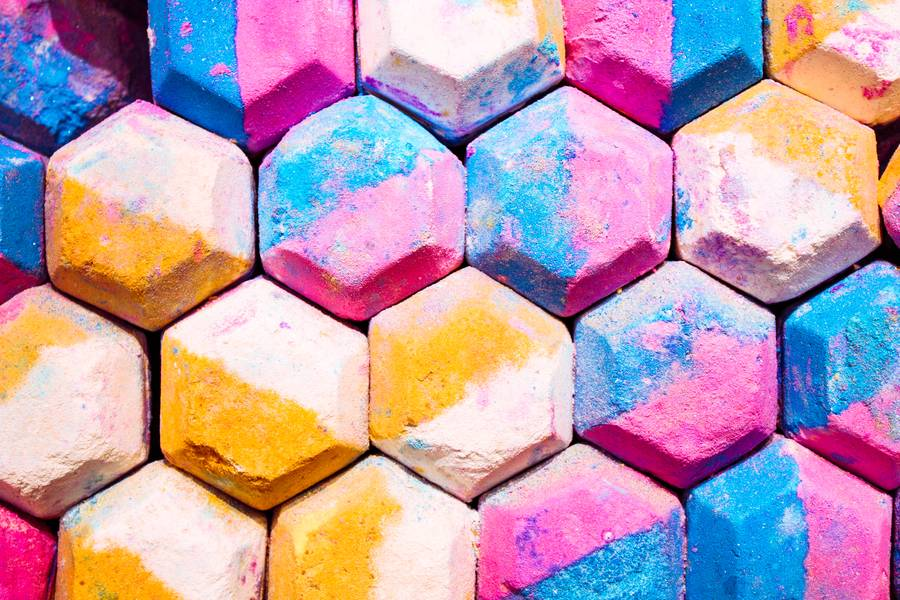 Abstract Hexagon Colorful Background free texture