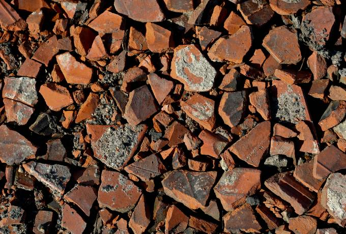 rubble debris brick