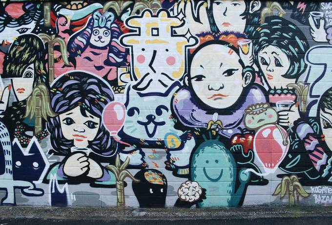Graffiti Wall Urban Art Background