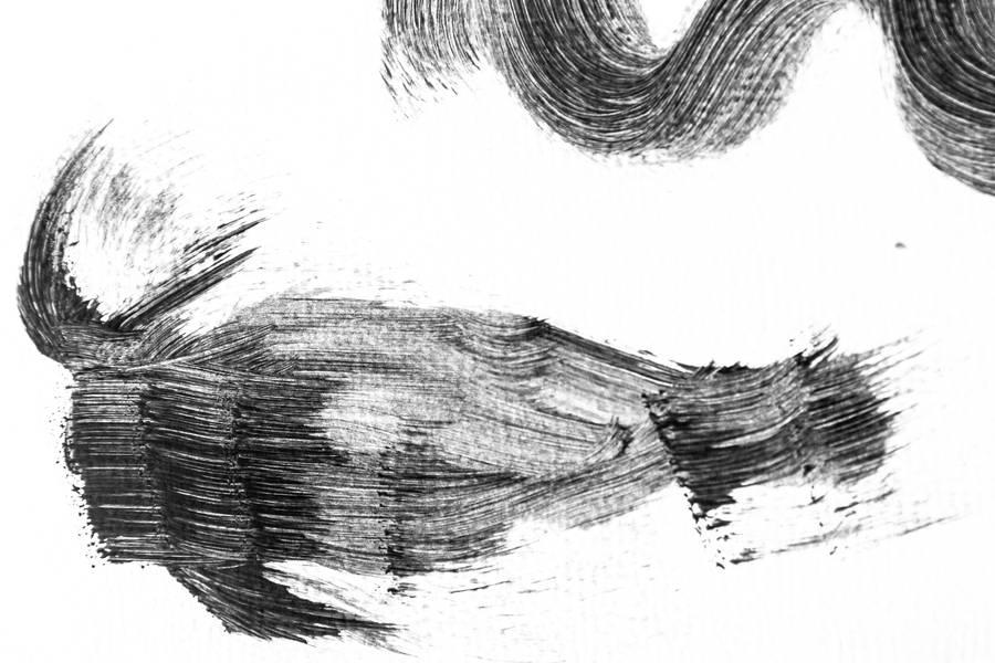Black Grunge Stroke free texture