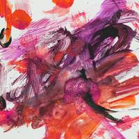 Pink and Red Abstract Paint