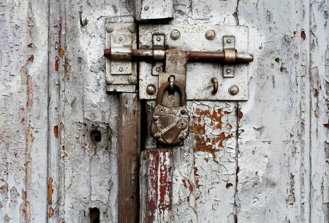 free padlock old door texture
