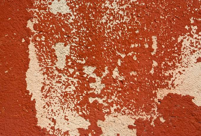 plaster red cracked