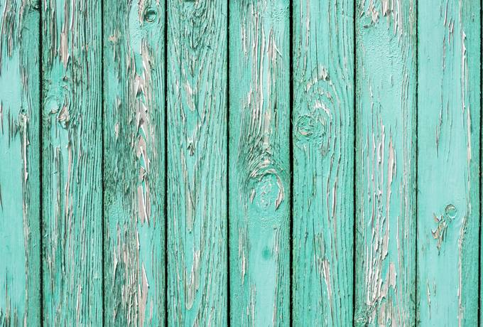 free Old Wall from Turquoise Wooden Planks texture