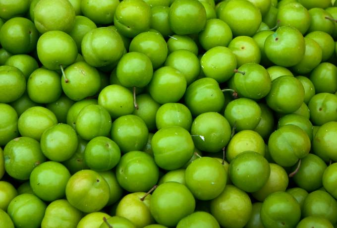 green plums fruits