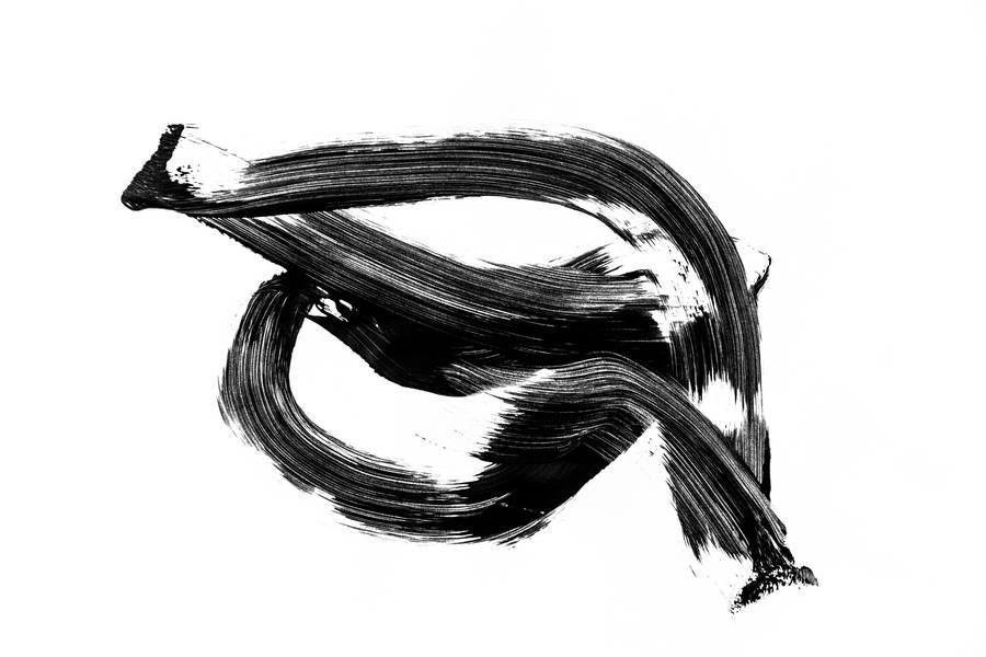 Abstract Black Stroke Acrylic Paint free texture