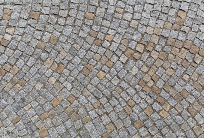 cobblestone pavement sidewalk