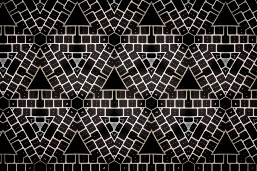 Black Abstract Kaleidoscope Keyboard free texture