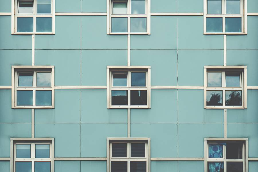 Building Facade with Nine Windows free texture