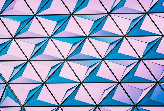Pink and Blue Geometric Pattern