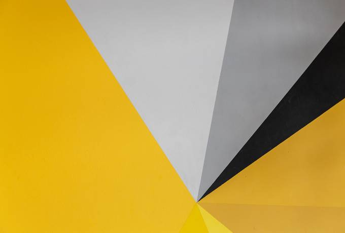 Yellow Abstract Wall