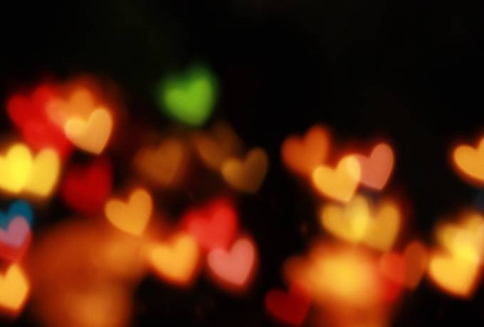 free Colorful Blurry Hearts texture