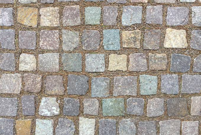 Cobblestone Footpath
