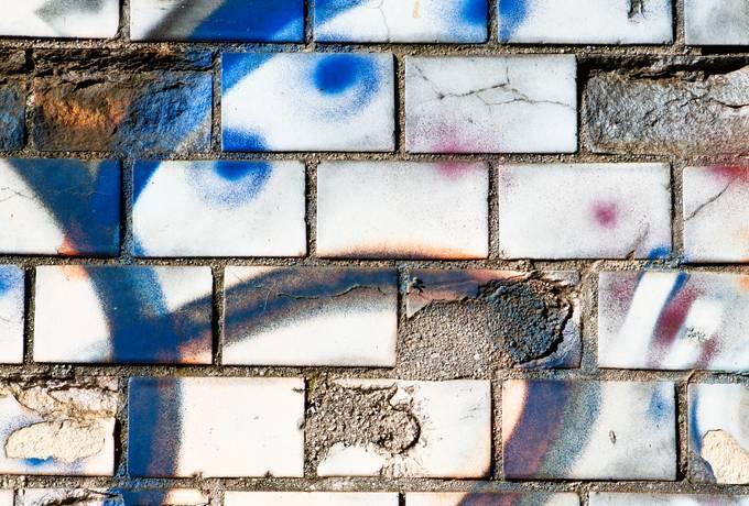 brick graffiti wall