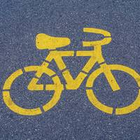 Bicycle Lane Sign on Asphalt