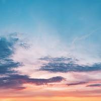 Sunset Sky in Pastel Colors