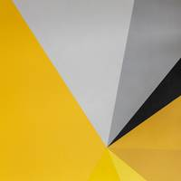 Yellow Abstract Wall