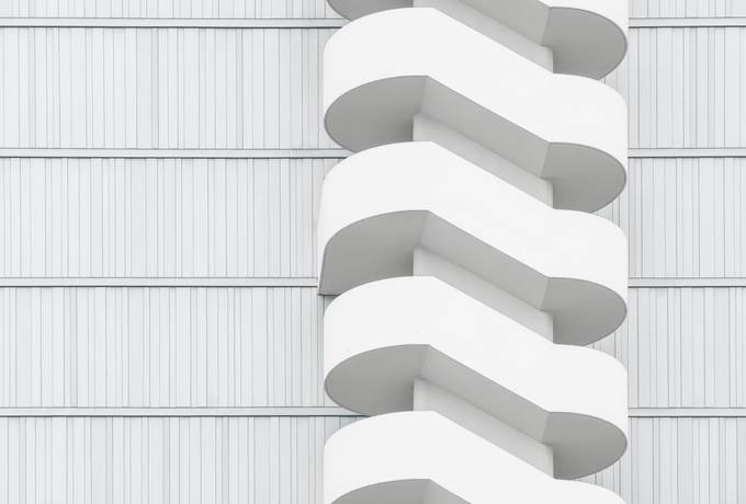 Abstract Architecture White Stairs