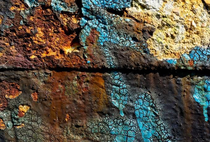 damaged cracked wall