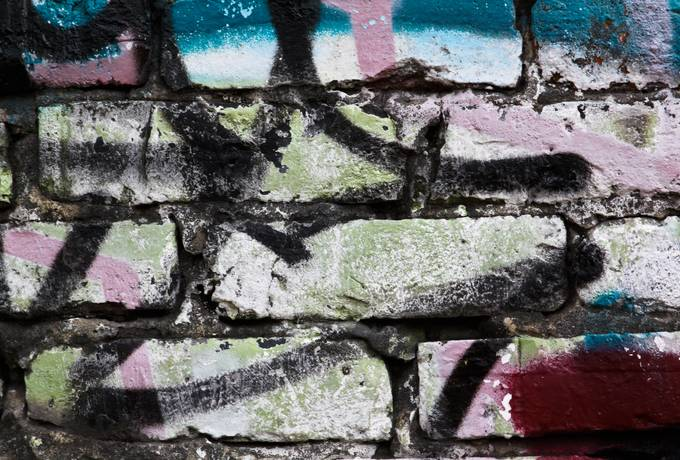 graffiti wall brick