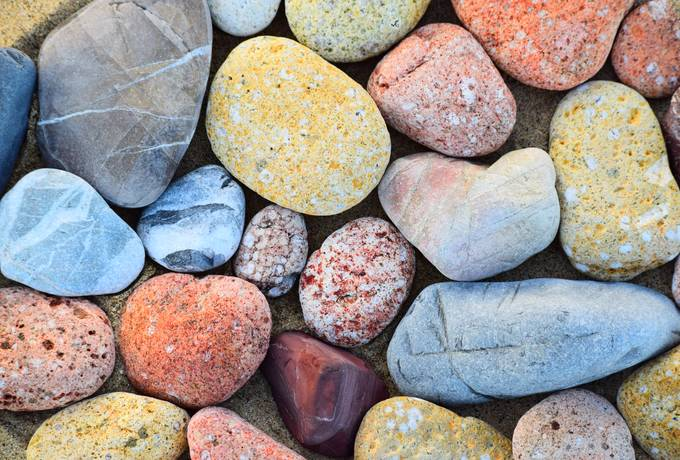 Close Up of Colorful Pebbles