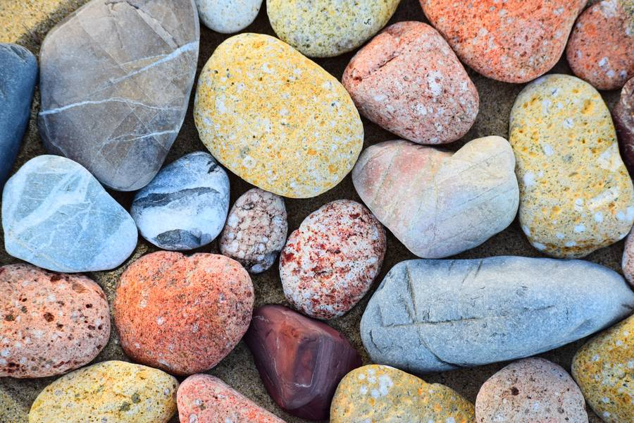 Close Up of Colorful Pebbles free texture