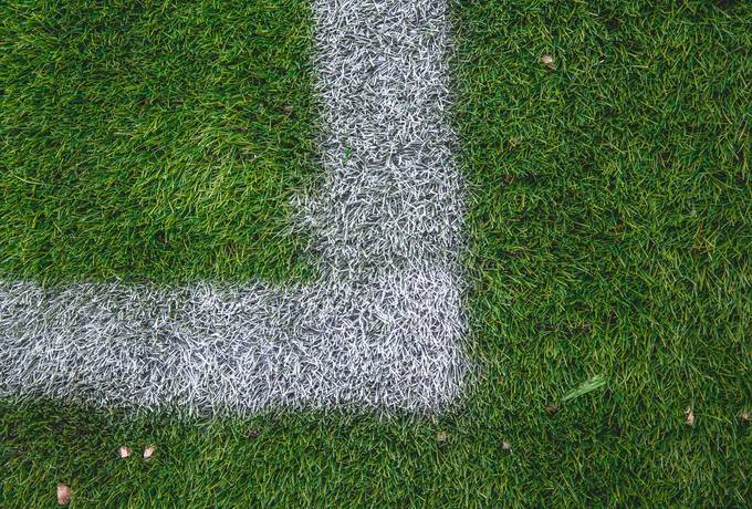 free White Stripe on the Green Soccer Field texture