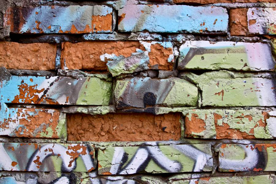 wall damaged brick free texture