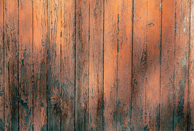 Peeling Paint on an Old Wooden Door