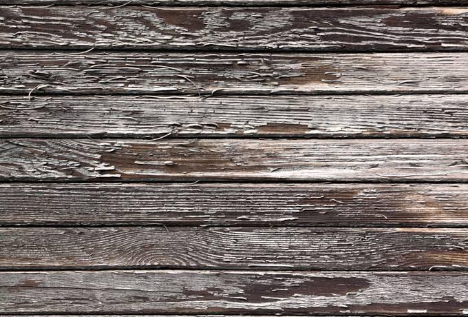weathered plank peeling