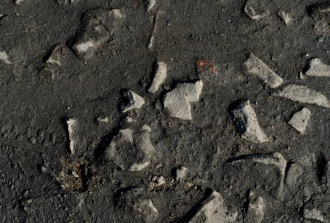 ground mud stone