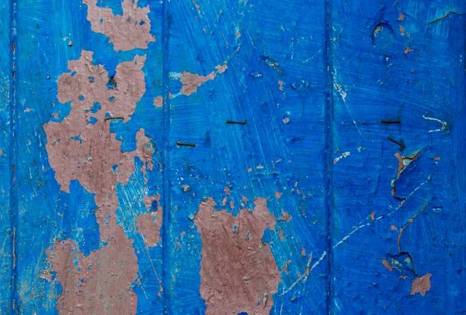 free blue peeling wood texture