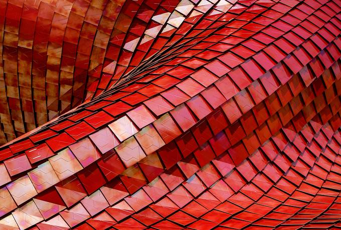 Red Geometric Abstract Pattern
