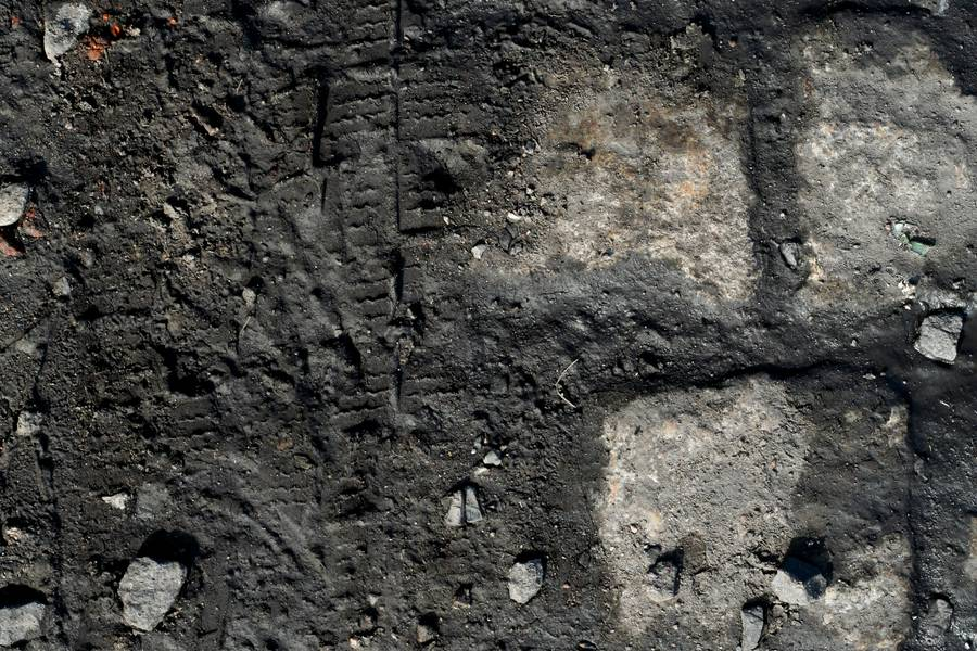 mud cobblestone road free texture