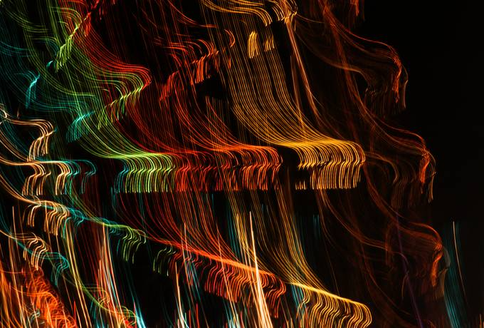 abstract illumination light streak