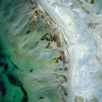 Aerial View of Ocean Shore Like Abstract Art