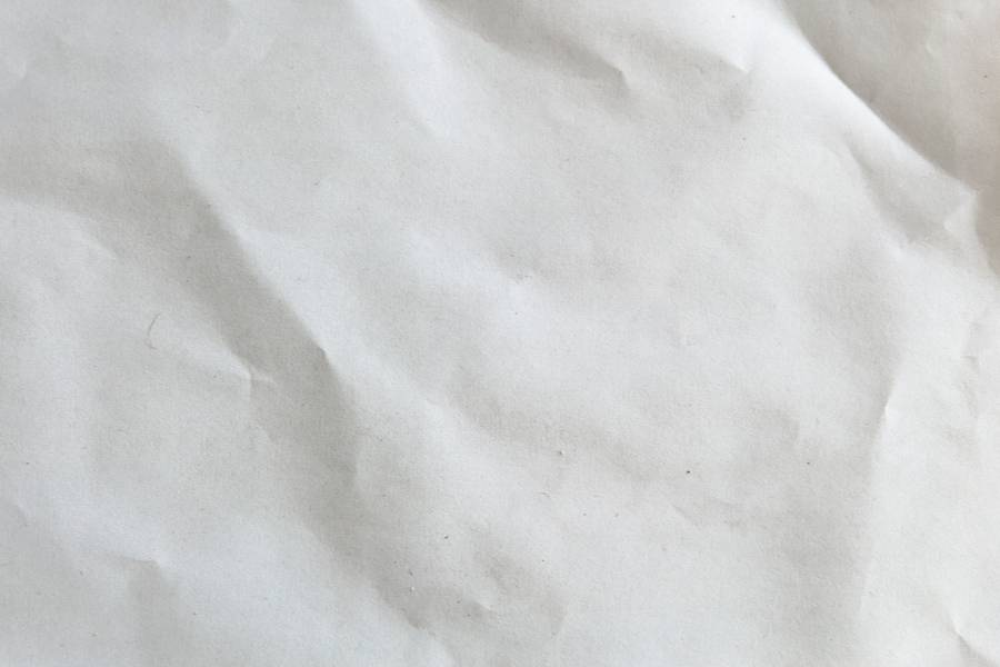 White and Wrinkled Sheet of Paper free texture