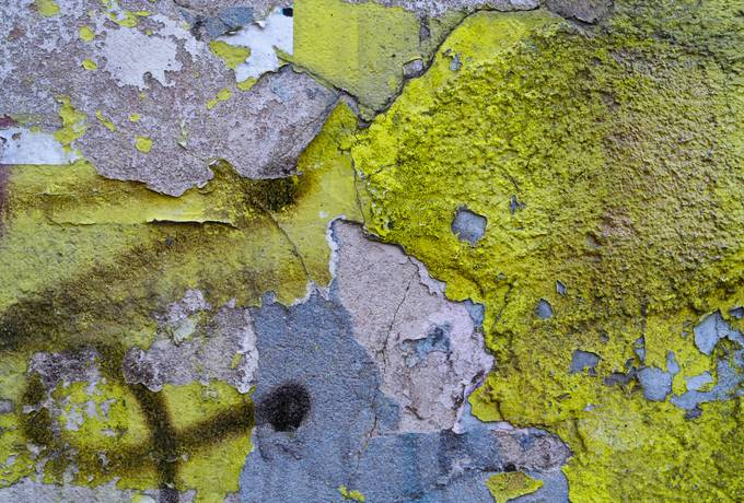 yellow dirty wall