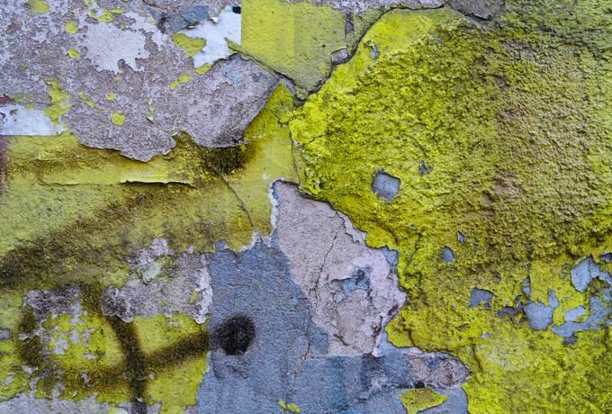 yellow dirty wall