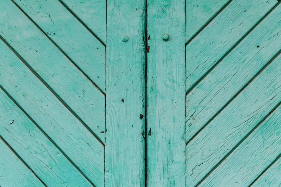 Aquamarine Wooden Doors Close-up free texture