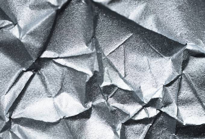 Shiny Silver Metallic Paper