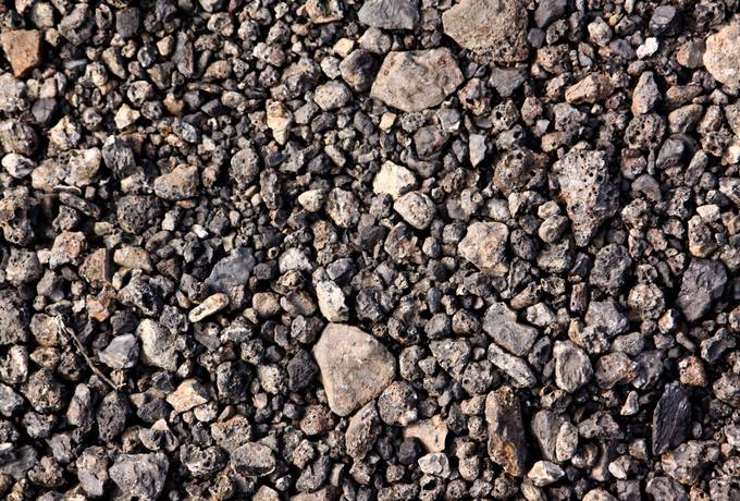 cinder gravel stone