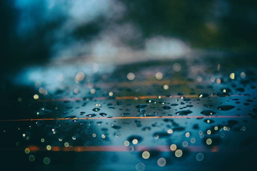 Bokeh Water Drops on Wet Surface free texture