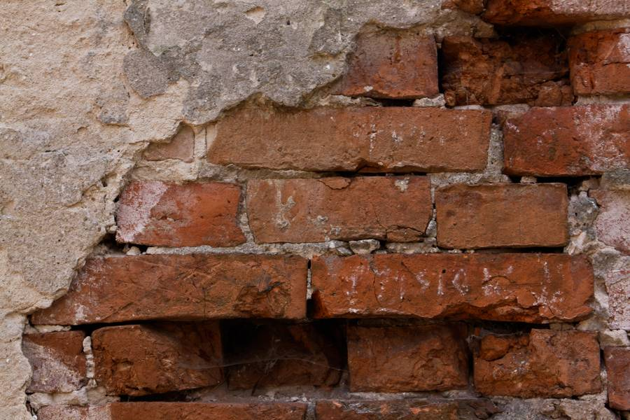 damaged wall brick free texture